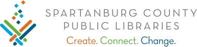 SCPL Logo with motto Create-Connect-Change